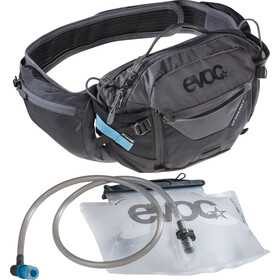 EVOC Hip Pack Pro 3l + sacca idrica 1,5l, black/carbon grey